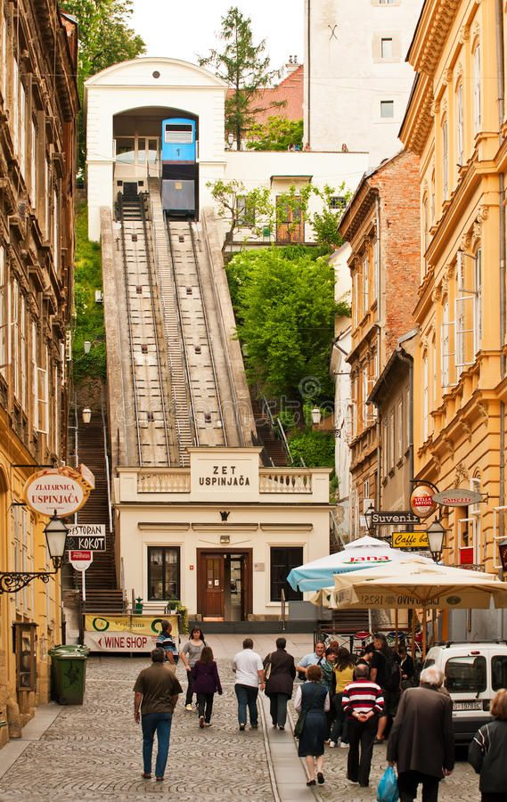 Zagreb Funicular Is One Of Many Tourist Attractions In Zagreb And One Of The Sh Sponsored Attractions Short Zagreb Croatia Ferry Building San Francisco