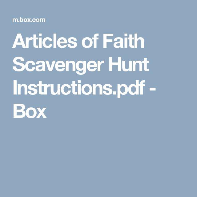Articles of Faith Scavenger Hunt Instructions.pdf - Box