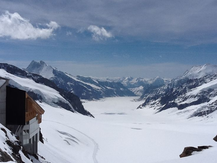 View of a glacier from the Jungfraujoch