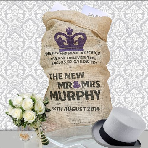 Royal Mail Inspired Wedding Card Sack