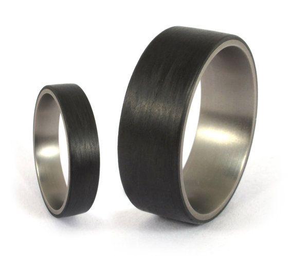 43 best Carbon fiber & Titanium Rings images on Pinterest ...