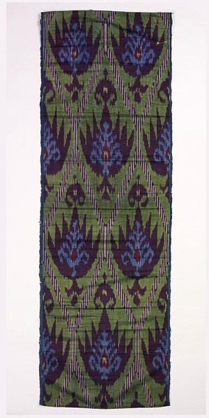 19th Century Ikat Textile / Central Asia, before 1883 / silk and cotton / V and A Museum
