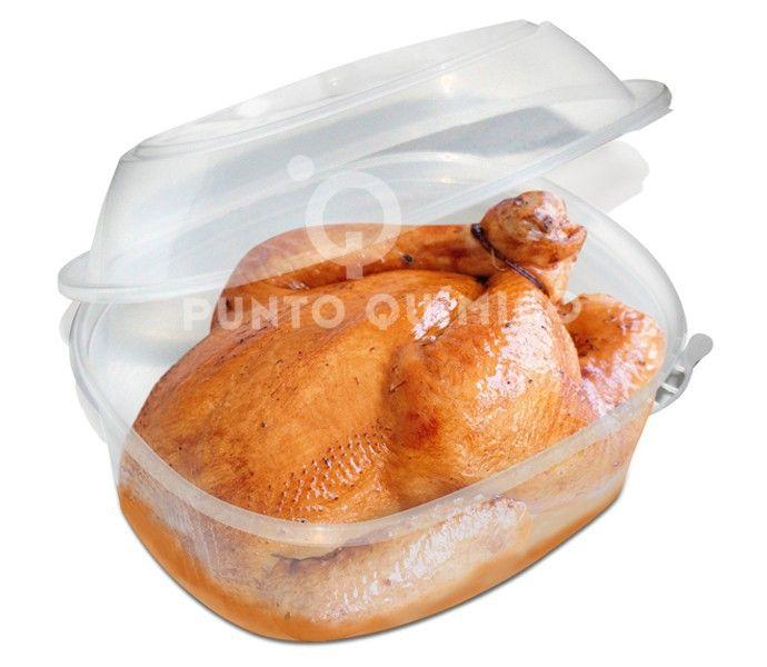 Taper de plástico hermético para comida caliente, comida preparada o encurtidos. Muy hermético que evita derramar líquidos. Utilizable en microondas, lavaplatos y congelador.
