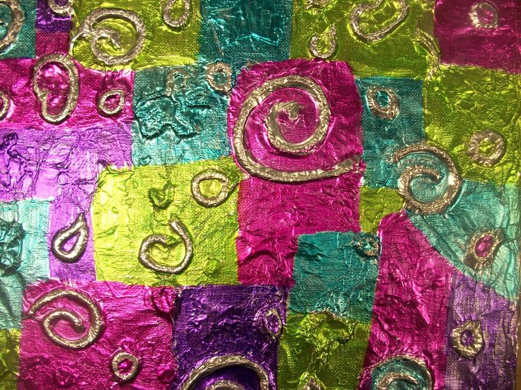 laine+colle+alu spirales