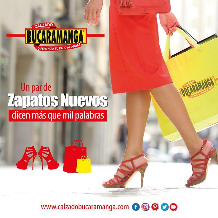 Estrena todos los días con Calzado Bucaramanga. www.calzadobucaramanga.com