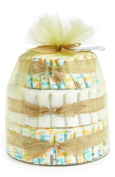 Free shipping and returns on The Honest Company Diaper Cake (Baby) at Nordstrom.com. Celebrate baby's arrival with this must-have diaper cake set of safe, all-natural nursery essentials, a perfect baby shower gift for the eco-friendly family. <br>Set includes: <br>- 80 (size 1) premium ultrasoft, ultra-absorbent, eco-friendly disposable diapers in fun prints. <br>- Face and body lotion (8.5 oz.) <br>- Shampoo and body wash (8.5 oz.) <br>- Bubble bath (12 oz.) <br>- Healing balm (3 oz.) <br…