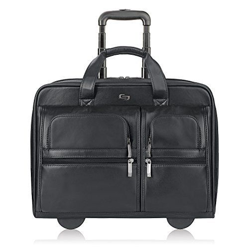 #10: SOLO Premium Leather Rolling 15.6 Laptop Case Black D957-4 This is a top pick of a deal among the hot selling items in Apparel  category in Canada. Click below to see its Availability and Price in YOUR country.