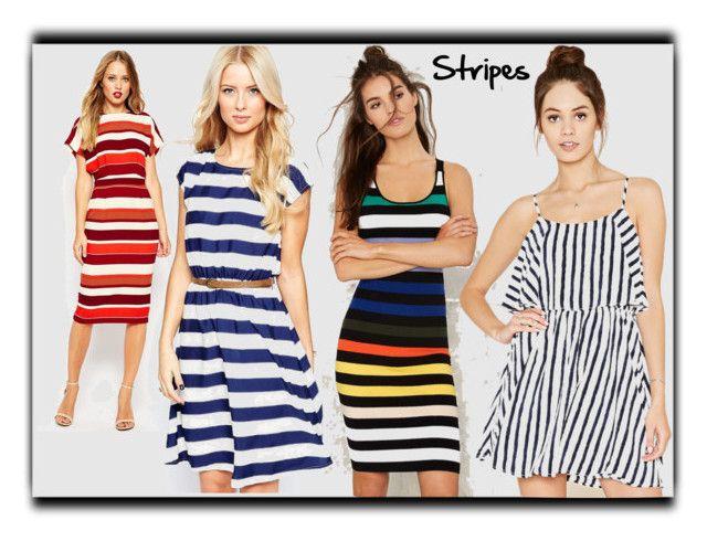 """Stripes"" by desiresinstyle on Polyvore featuring moda, Glamorous, ASOS, Iska e Forever 21"