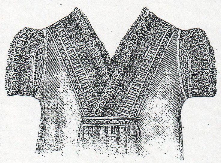 Chemise with deep neck cut from Budapesti Bazár 1878