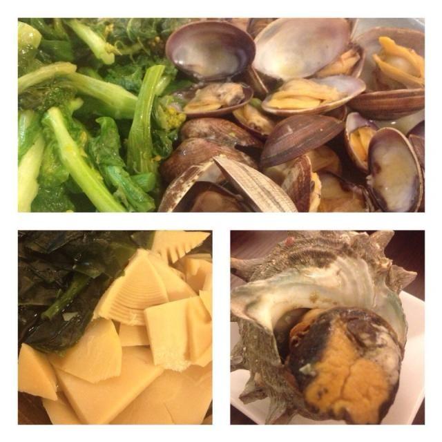 春づくしの料理 今日も美味しかったなぁ が飲めたらなぁ〜 - 9件のもぐもぐ - ◼︎アサリと菜の花の酒蒸し◼︎タケノコとワカメの若竹煮◼︎サザエのつぼ焼き by kunchan1005