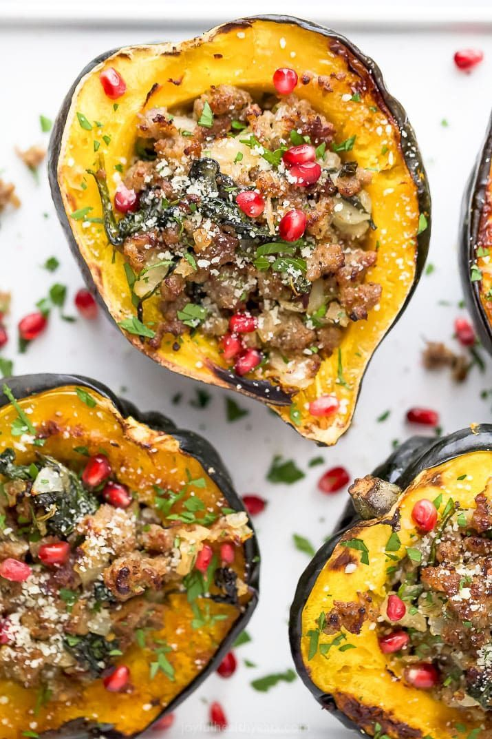 The Best Apple Sausage Stuffed Acorn Squash Recipe With Images