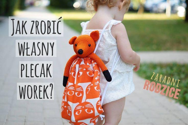 DIY | Jak zrobić własny plecak worek z kotkiem? | Zaradni Rodzice