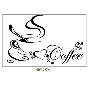 stilleven muurstickers koffiekopje patroon 40cm x 60cm jiubai ™ muuroverdrukplaatje - EUR € 15.45