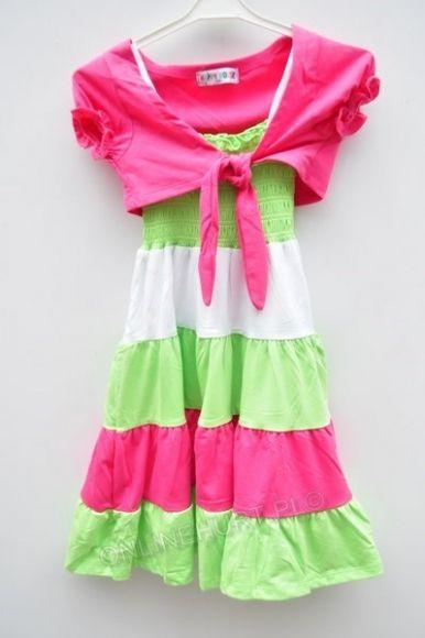 Sukienka dziewczęca QQ-494  _B6  (4-12)