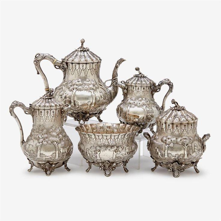 542 best Silver tea pot images on Pinterest