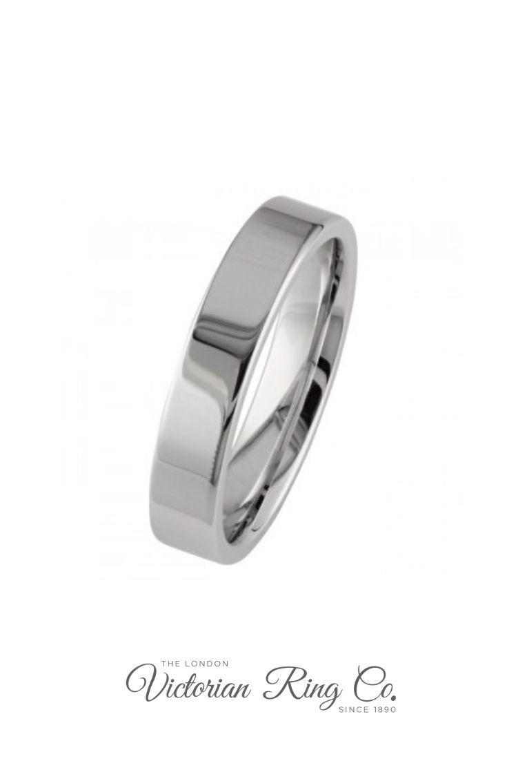 Wedding Band 5mm 7mm Titanium Diamond  Ring Flat Court Engagement