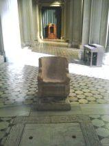 Marble chair - Chiesa San Gregorio al Celio