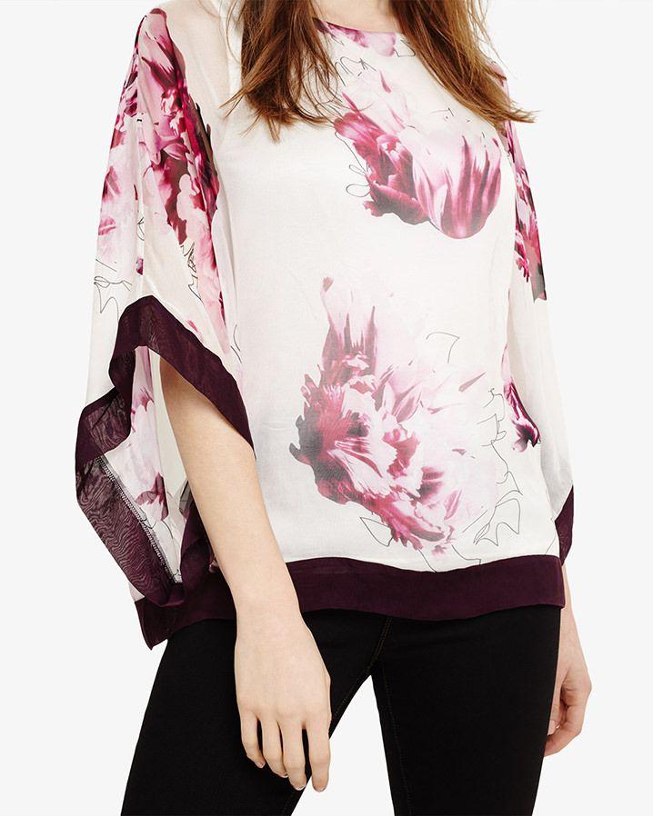c8e9e05c851ec6 Phase Eight Peony Floral Silk Blouse Purple | A/W 17 | Silk, Blouse ...