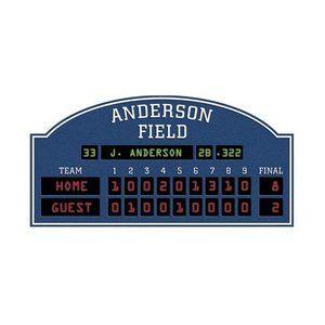 4 Walls Unique Personalized Baseball Scoreboard Peel and Stick in Blue