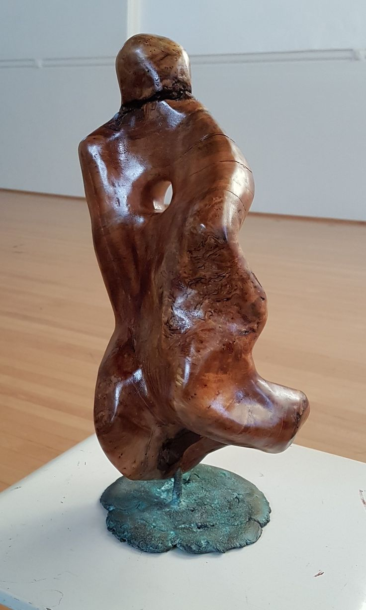 'The Searcher' Carved Curly Mallee and bronze
