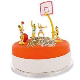 Kit Décor Gâteau Basket Ball