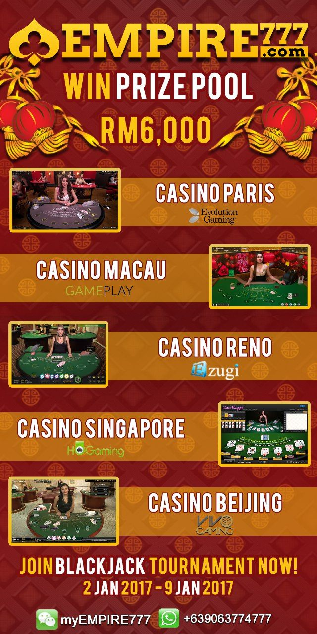 Enjoy Blackjack Experience in our Live Casino, pick the one you like and bet like a boss!  ♠ Check out now empire777.com -->tournaments !!  Wechat:myempire777 Whatsapp: +639063774777