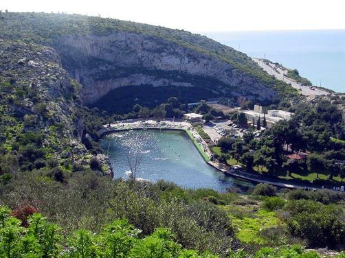 Vouliagmeni lake: it was formed 2000 years ago, and it has a very rare geophysical formation
