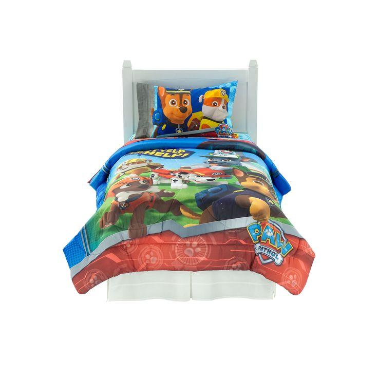 Nickelodeon Paw Patrol Ruff Ruff Rescue Bed Set, Grey