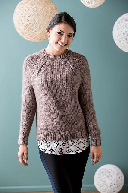 Ravelry: Shifted Eyelet Yoke Sweater pattern by Sachiko Burgin