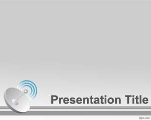 dish antenna powerpoint template is a free gray template for