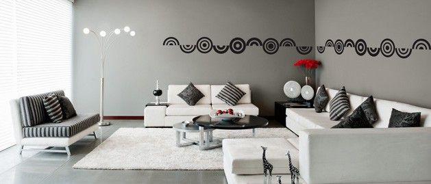 Kruhy v řadě (1070) / Samolepky na zeď, stěnu a nábytek