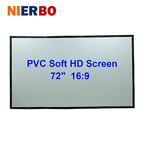 72 inches 16:9 HD Projector Screen Portable Folded PVC Soft Front Projection Screen Fabric with Eyelets without Frame #inches #Projector #Screen #Portable #Folded #Soft #Front #Projection #Fabric #with #Eyelets #without #Frame