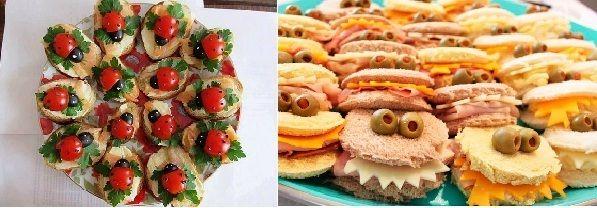 comidas divertidas para fiestas infantiles