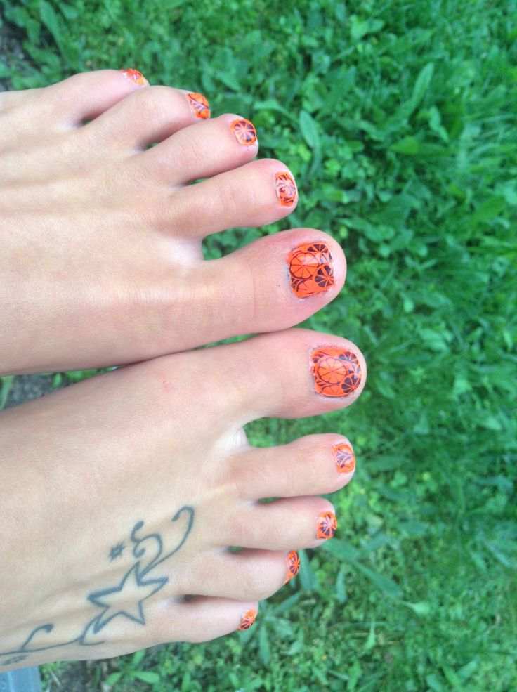Summer fun with bright orange