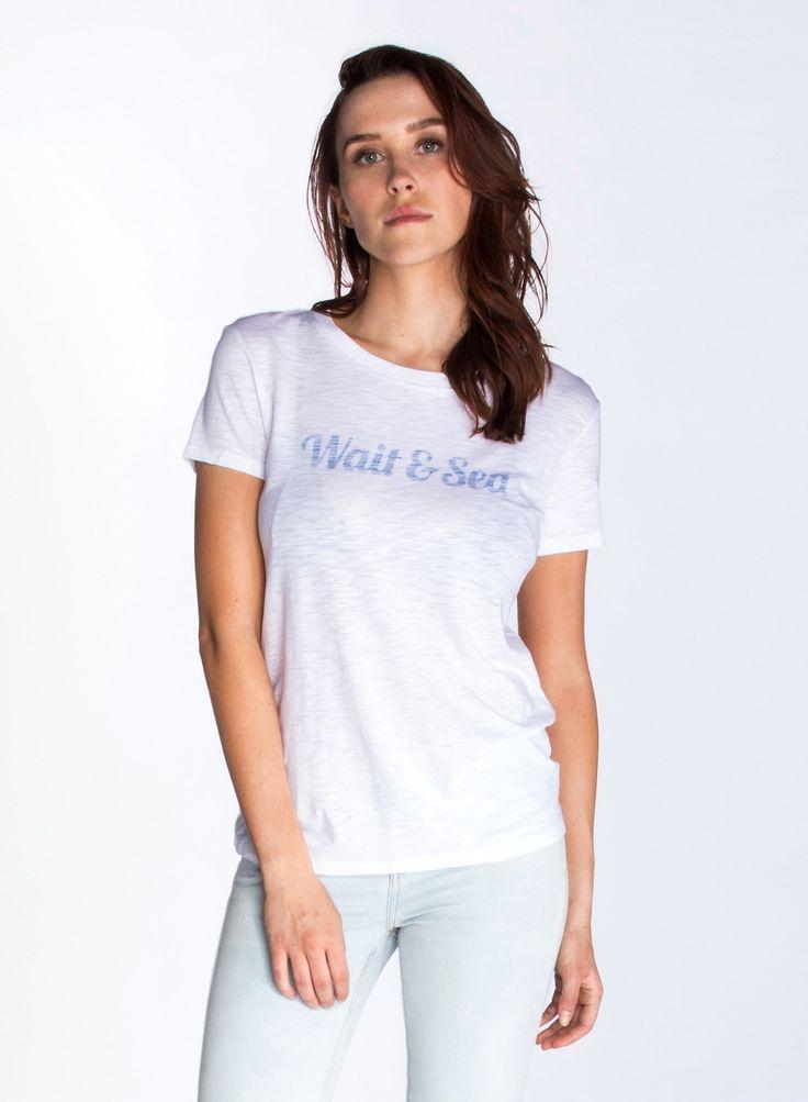 WAIT & SEA — Slub T-Shirt