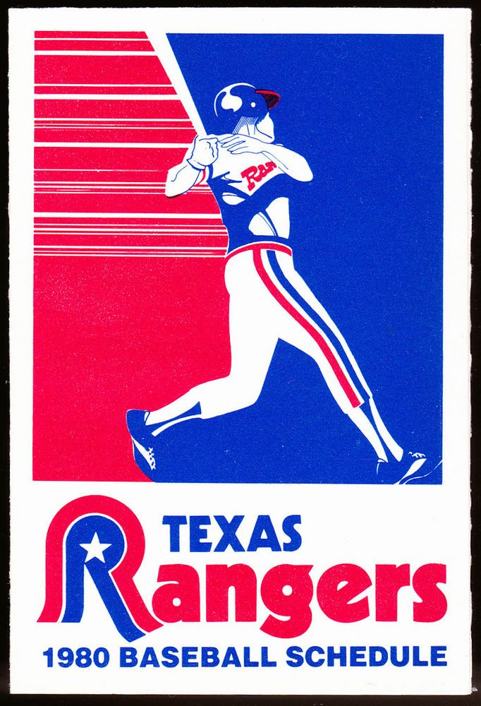 1980 TEXAS RANGERS TRUE VALUE HARDWARE BASEBALL POCKET SCHEDULE FREE SHIPPING #SCHEDULE