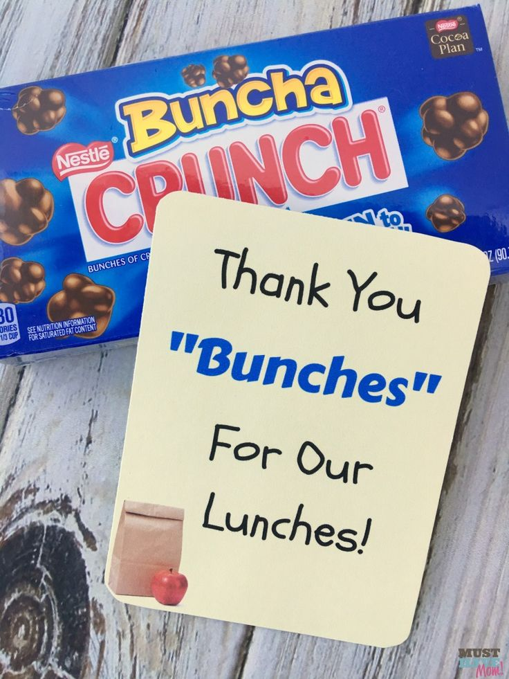 Free School Lunch Hero Day Printable Thank You Cards For