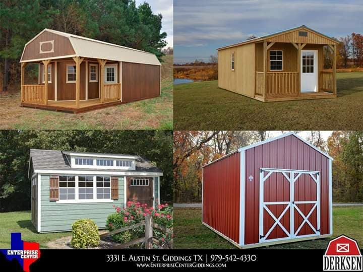Derksen Portable Buildings Cabins Storage Metal Utility Sheds And More By Enterprise Superce In 2020 Portable Buildings Portable Storage Buildings Built In Storage