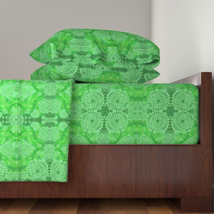 Langshan Sheet Set featuring Ulva Dantela Lace by joancaronil | Roostery Home Decor