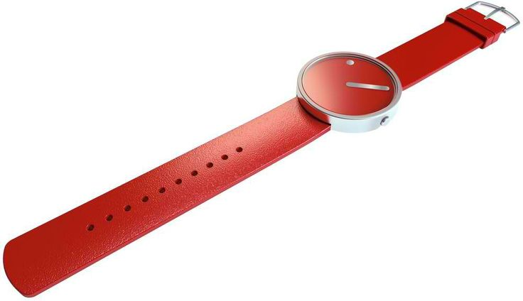 Picto Red/Steel Wristwatch visit shopbalthazar.com