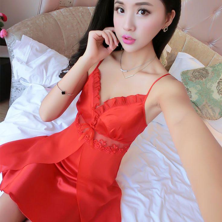 2017 New Summer Silk Nightgown Women Hollow Out Comfortabel Sexy Satin Night Dress Ladies Pijama Sleepwear Plus Size Sleepshirts