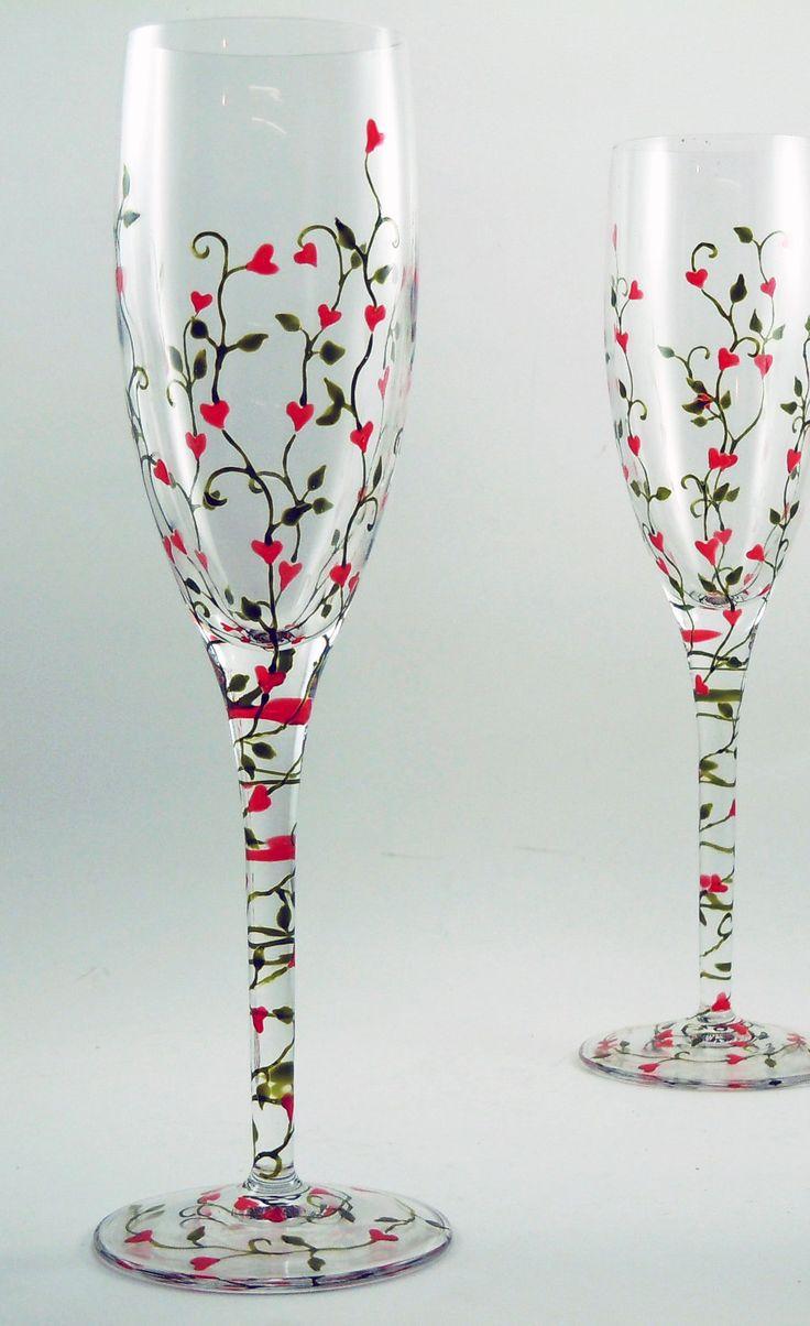 Best 25 painted champagne flutes ideas on pinterest for Hand painted wine glasses