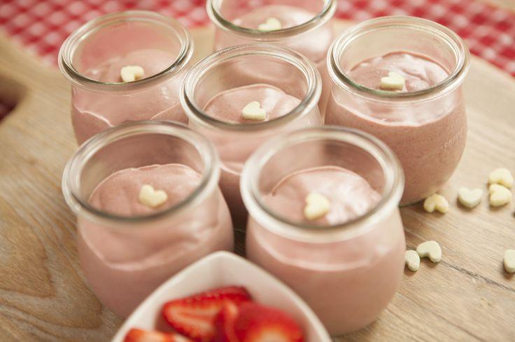 Strawberry Chia Puddings #tenina #thermomix #vegetarian #newbook