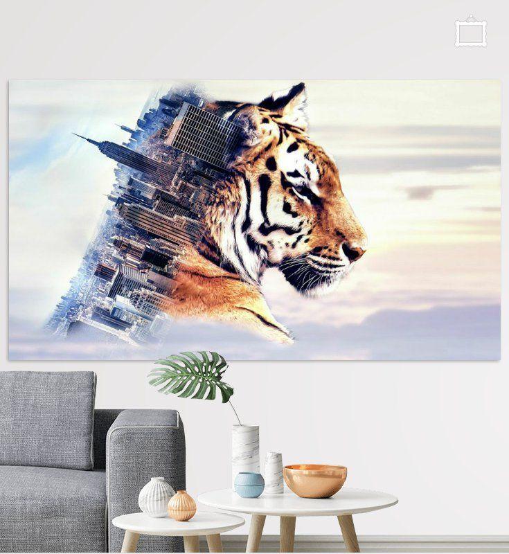 Nieuw in mijn Werk aan de Muur shop: Tiger and the city  #art #style #vtwdbeurs #vtwdb #wonen #kunst