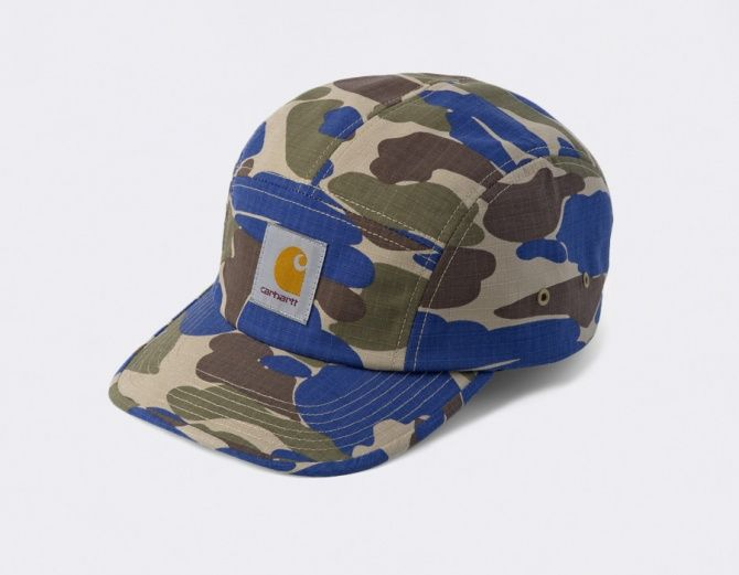 #Carhartt Caps 5 Panel Backley Camo