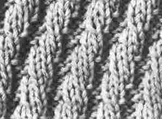 Encyclopédie des points de tricot. LE POINT Cotes en Spirales