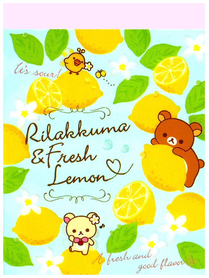 San-x Rilakkuma Lemon Flowers Mini Memo Pad