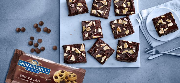 Image for Peppermint Bark Brownies from Ghirardelli