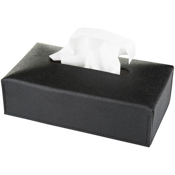 Amara Bonnieux Tissue Box - Black Golf - Rectangular found on Polyvore featuring home, bed & bath, bath, bath accessories, black, black bathroom accessories, golf bathroom accessories, black toilet paper holder, rectangular tissue holder and black tissue box holder