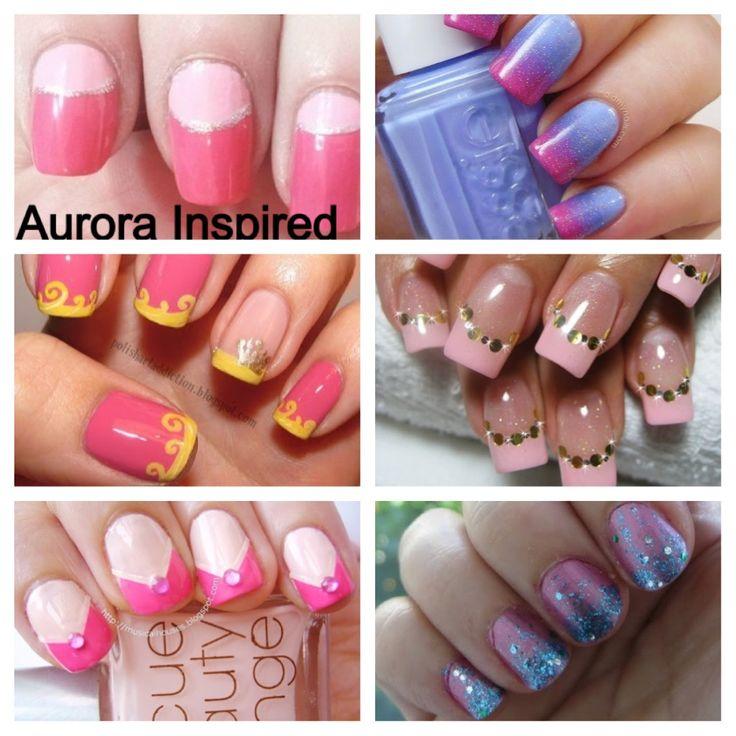 #Aurora inspired nails